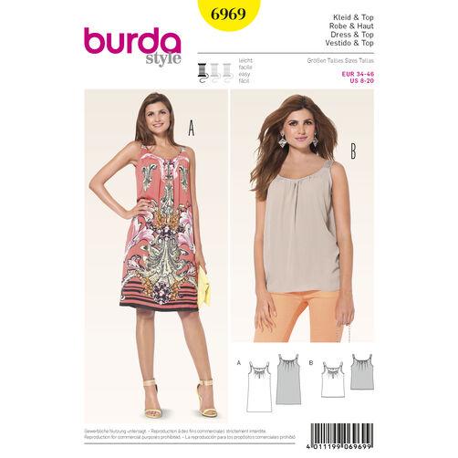 Burda Style Pattern 6969 Tops, Shirts, Blouses