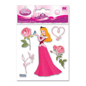 Sleeping Beauty With Roses Dimensional Stickers_DSMSBR