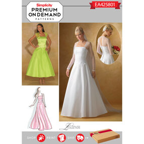 Simplicity Pattern EA425801 Premium Print on Demand Misses' Special Occasion Dress
