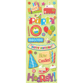 General Birthday Adhesive Chipboard_566781
