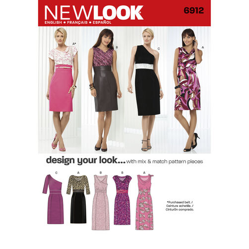 New Look Pattern 6912 Misses' Dresses
