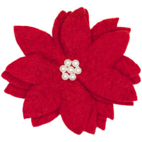 Wool Felt Poinsettia Flower_72-08210