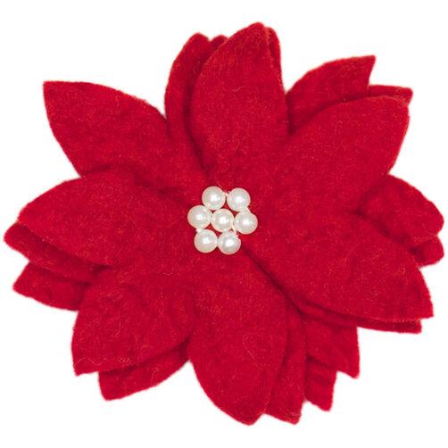 Wool Felt Poinsettia Flower_72-08210