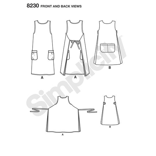 Simplicity Pattern 8230 Misses' Dottie Angel Reversible