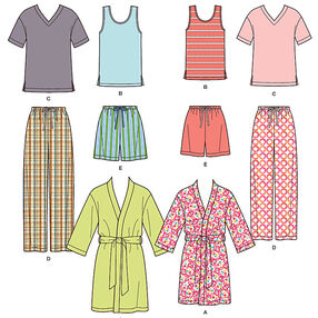 Misses' Men's and Teens' Sleepwear