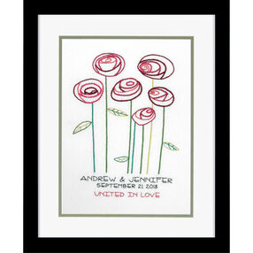 Simple Roses Wedding Record, Embroidery_71-73810