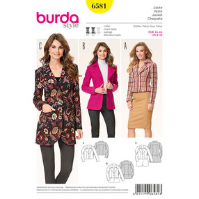 Burda Style Pattern 6581 Jacket