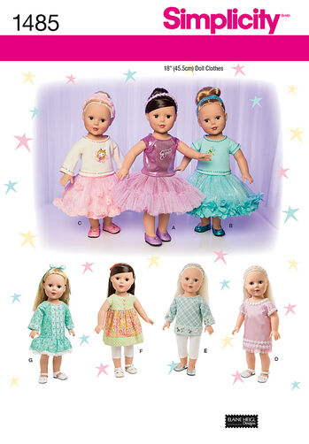 "18"" Doll Clothes with Trim Variations"