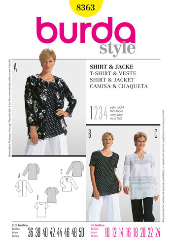 Burda Style Pattern 8363 Shirt & Jacket