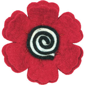Poppy Wool Felt Flower_73298