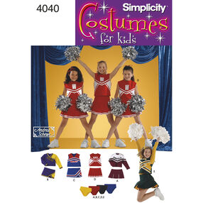 Simplicity Pattern 4040 Child & Girl Cheerleader Costumes