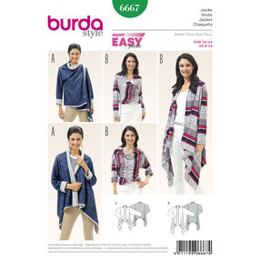 Burda Style Pattern 6667 Women's Jacket