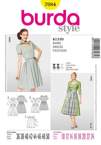 Burda Style Pattern 7084 Dress