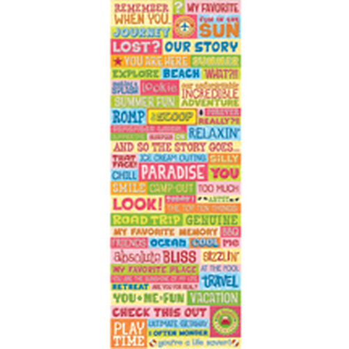 Citronella Words Embossed Stickers_30-570184