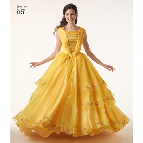 simplicity pattern 8404 disney beauty and the beast