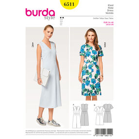 Burda Style Pattern B6511 Misses' V-neck Dress