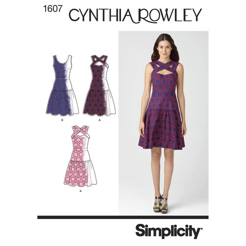 Simplicity Pattern 1607 Misses' Dress Cynthia Rowley Collection