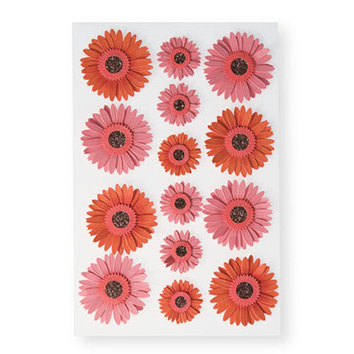 Pink Dimensional Gerbera Daisy Stickers_M355031