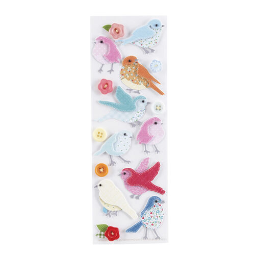 Stitched Bird Stickers_41-00326