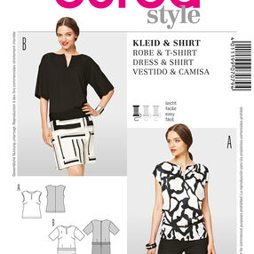 Burda Style Pattern 7079 Dress & Shirt