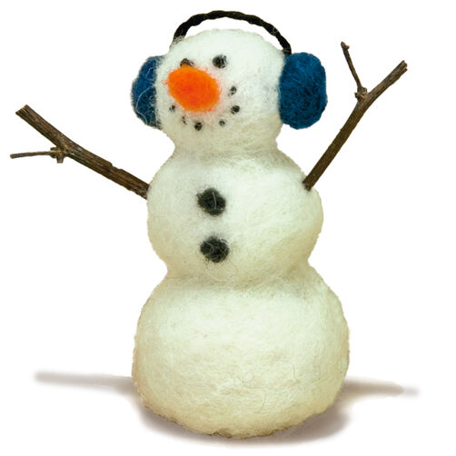 Snowman Felted Character Needle Felting Kit_72-73805