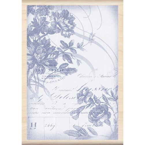 Floral Wood Cut_60-00679