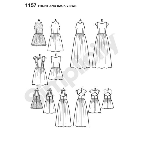 Pattern for Misses' Dresses Project Runway Collection