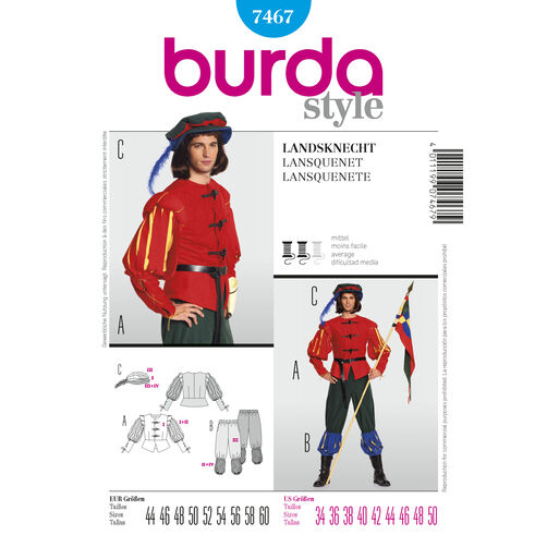 Burda Style Pattern 7467 Middle Age Guard