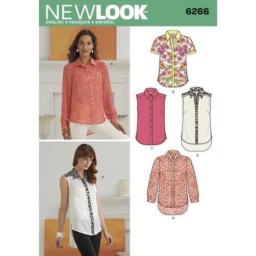 New Look Pattern 6266 Misses' Button Front Shirts