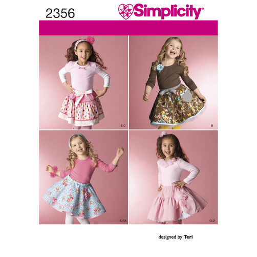 Simplicity Pattern 2356 Child's Skirts, Slips & Accessories