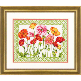 Poppy Pattern, Counted Cross Stitch_70-35350