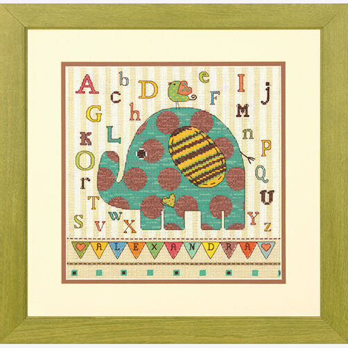 Baby Elephant ABC in Counted Cross Stitch_70-73988