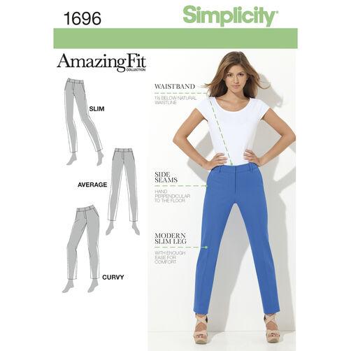 Simplicity Pattern 1696 Misses' & Miss Petite Amazing Fit Pants