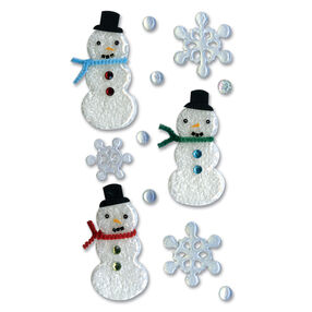 Epoxy Snowmen Stickers_SPJP005
