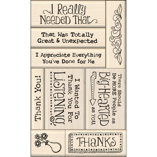 Thank You Card Making Wood Stamps_60-10113