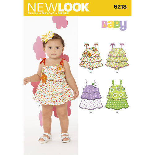 New Look Pattern 6218 Babies' Sun-suit and Dress
