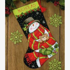 Snowman and Bear Stocking in Needlepoint_71-09151