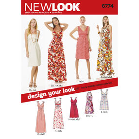 New Look Pattern 6774 Misses Dresses