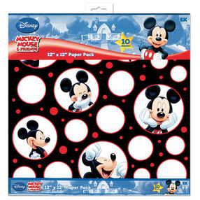 Mickey Mouse Black, White And Red 12x 12 Paper Pack_DBMPP