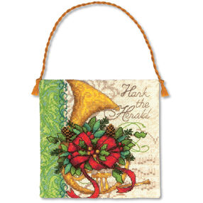 French Horn Ornament, Counted Cross Stitch_70-08870