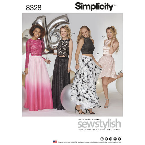 Simplicity Pattern 8328 Misses' Special Occasions Dress