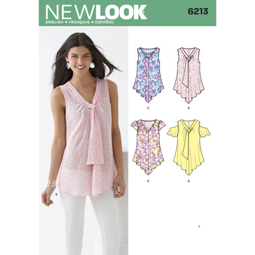 New Look Pattern 6213 Misses' Tops