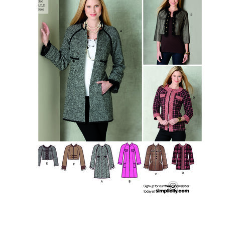 Simplicity Pattern 2149 Misses' Jackets