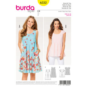 Burda Style Pattern B6532 Misses' Loose Dress