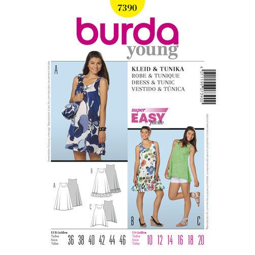 Burda Style Pattern 7390 Dress & Tunic