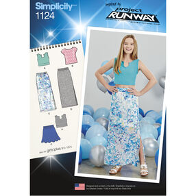 Simplicity Pattern 1124 Girls' and Girls' Plus Tops and Skirts