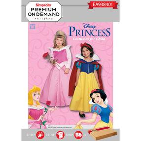 Simplicity Pattern EA938401 Premium Print on Demand Child's Disney Princess Costumes