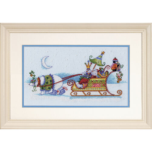 Snow Bear and Sleigh, Counted Cross Stitch_70-08864