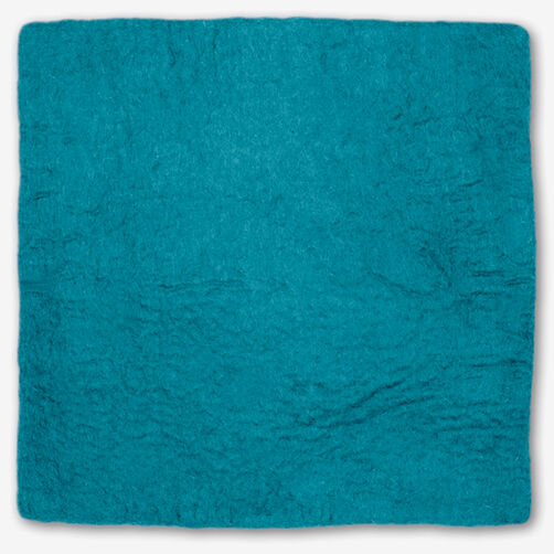 Turquoise Wool Felt Pillow Cover_72-73654