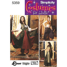 Simplicity Pattern 5359 Misses' Belly Dancing Costumes
